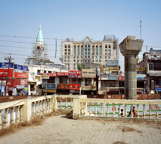 Metro construction site, Gurgaon, 2008